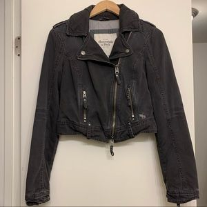 Abercrombie & Fitch Gray Utility Jacket small